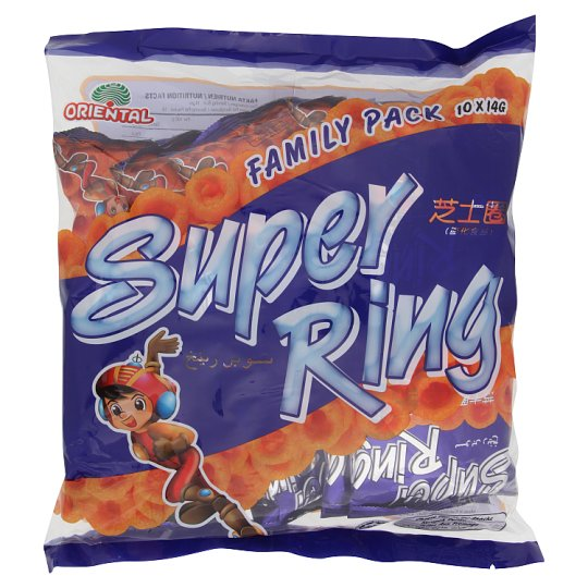 Oriental Super Ring Cheese Snacks 10 x 14g